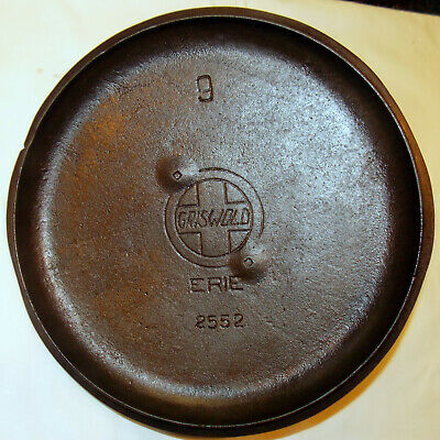 No. 9 GRISWOLD DUTCH OVEN COVER (1910's)