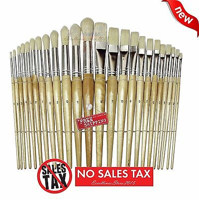 NEW Paint Brush Set Acrylic Oil Artist Watercolor 24 Piece Painting Brushes
