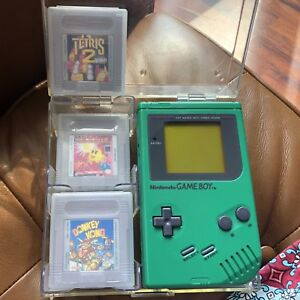 Game Boy Green with 3 Games