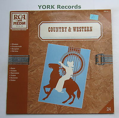 COUNTRY & WESTERN - Background Music - Excellent Con LP Record RCAMedia RCM - Country Western Background
