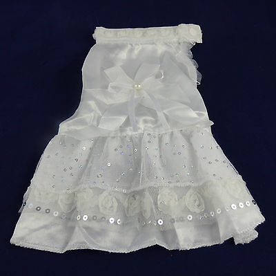 Dog Dress Special Occasion Clothes (Small dog lace frilly dress, bridal party, special occasion, formal lsatin gown)