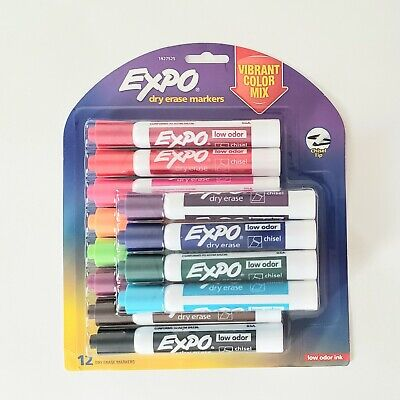 Expo Dry Erase Markers 12 Pack- Vibrant Color Mix