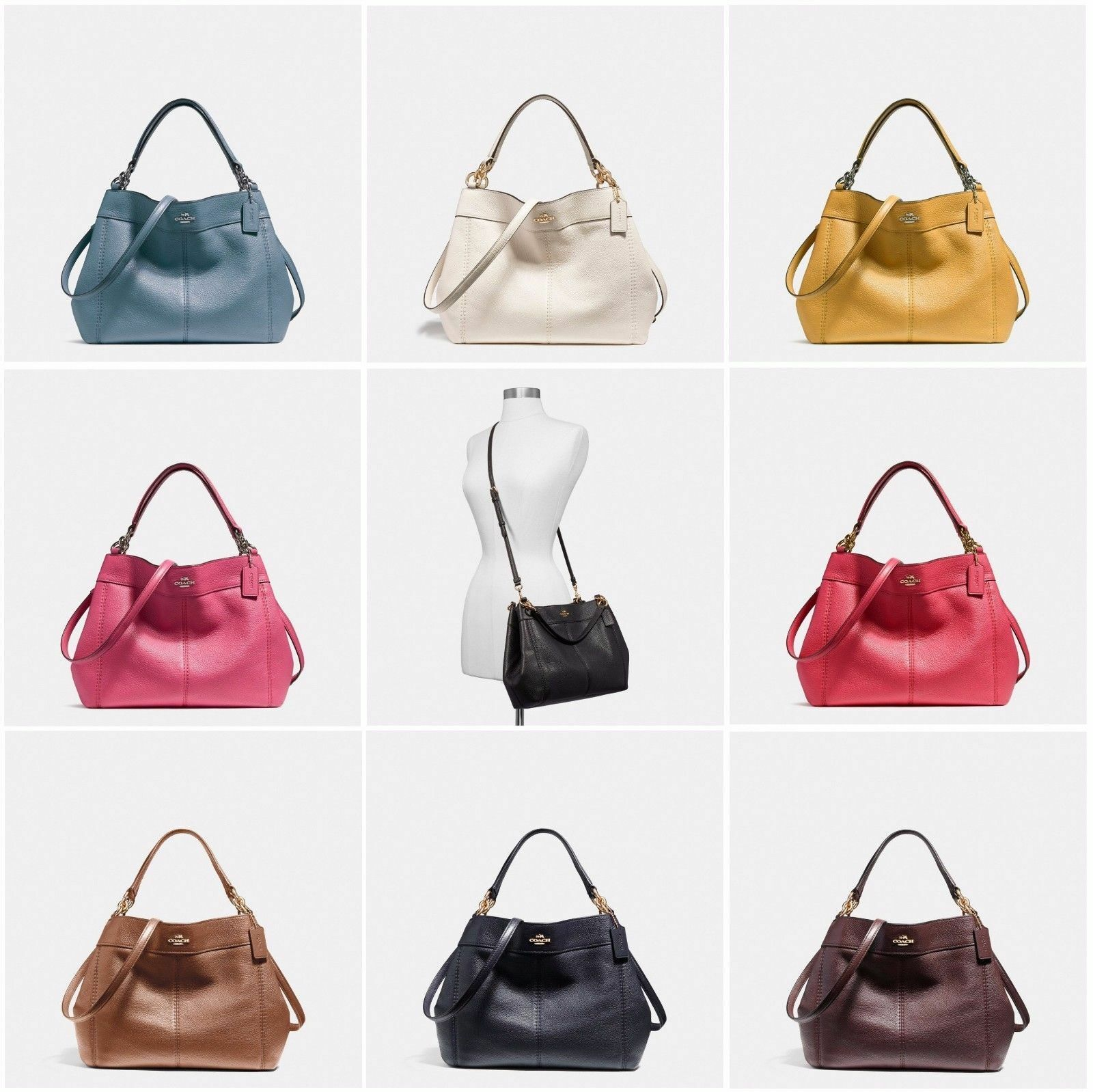 0c138dd60e26 ... ireland new coach f23537 small lexy shoulder bag in pebble leather new  with tags 902ee f2065