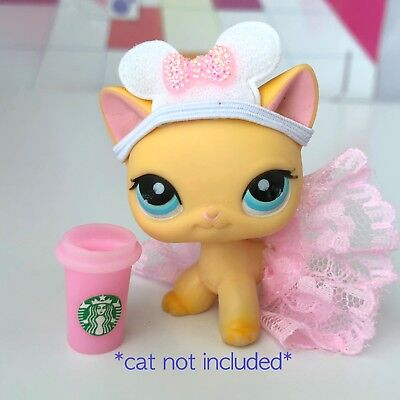 Littlest Pet Shop Accessories LPS Clothes Princess Ears Lot CAT DOG NOT INCLUDED