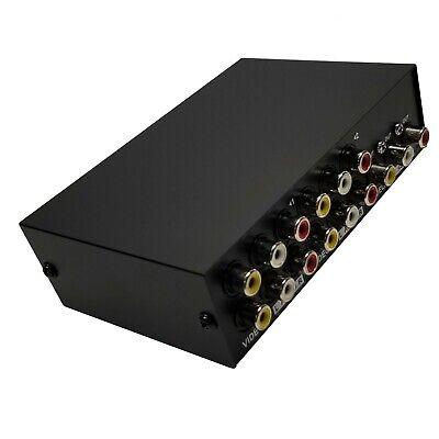 как выглядит Видео кабель, коннектор 4x1 4-Port AV Video Audio RCA (Red/White/Yellow) Composite Switch 4-Way Switcher фото