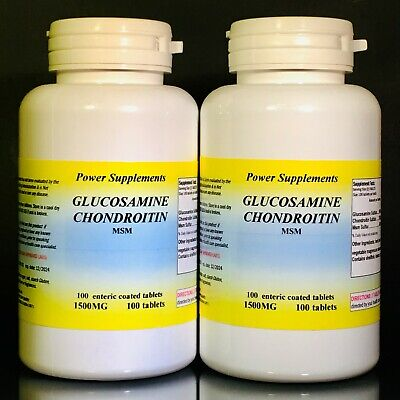 Glucosamine chondroitin+ MSM  arthritis ~ 200 (2x100 ) tablets, Made in USA