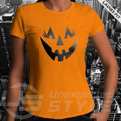 Calabaza Halloween Disfraz (Halloween Pestañas Camiseta Divertido Calabaza Disfraz Calavera Infantil)