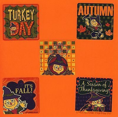15 Autumn Scarecrow - Large Stickers - Party Favors - Thanksgiving