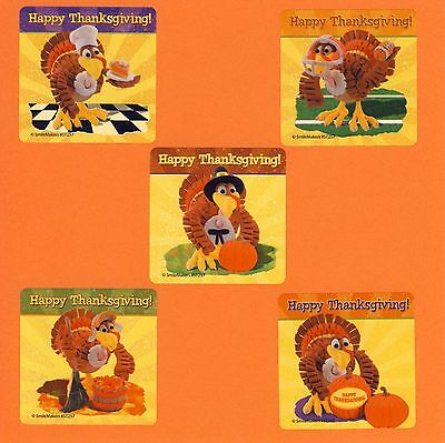 15 Thanksgiving Turkey - Large Stickers - Party Favors