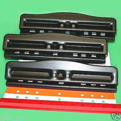 Desktop Adjustable 23567 Hole Paper Punch Organizer Planner Binder Accessory