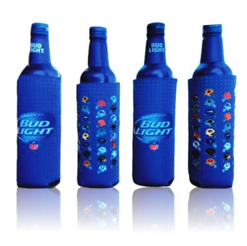 Bud Light 16 oz Aluminum Bottle Koozie (Pack of 4) | All 32 NFL Team Helmets