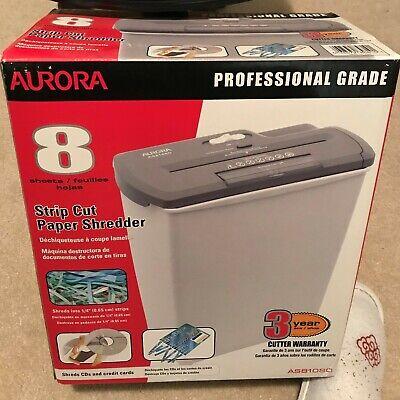 Aurora As810sd Strip-cut Shredder - White