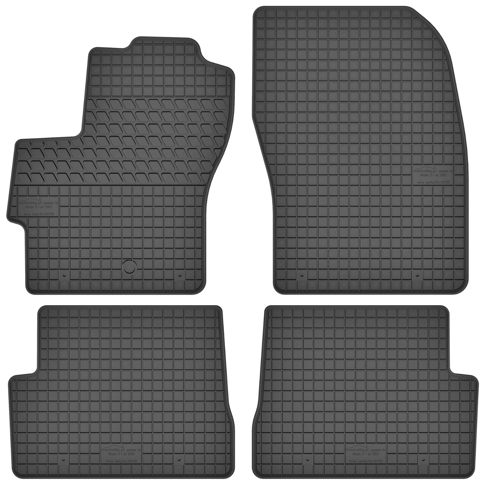 Gummimatten Gummi Fußmatten Satz für Mazda 3 I (20032009) BK Passgenau Neu