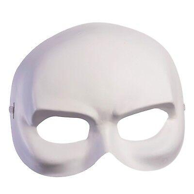 Erwachsene Venezianische Maskerade Phantom Weiß Halbmaske Kostüm Zubehör