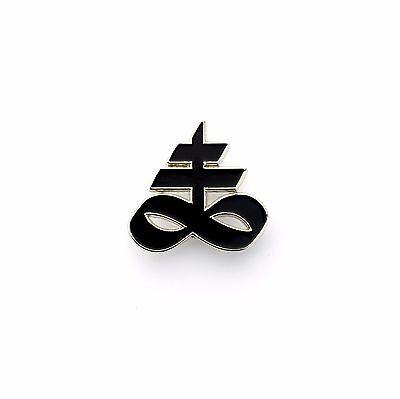 "Leviathan Cross - Soft Enamel Pin 1"" - Satanic Satan Sulfur Alchemy Elements 666"