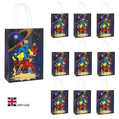 PARTY BAGS Kids Boys Baby Goodies Paper Toy Favors Bag UK (Super Hero Party Favors)