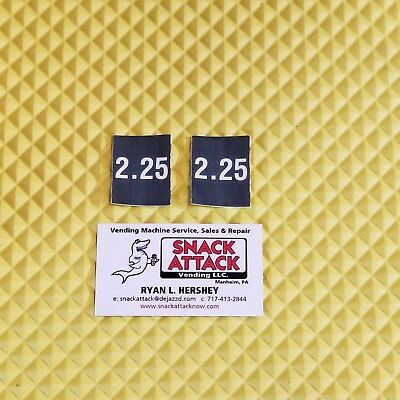 2 Soda Vending Machine 2.25 Vend Label Price Stickers Free Ship