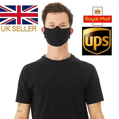 WASHABLE & BREATHABLE Mouth & Nose Protection Virus Bacteria Safety Face UK Mask