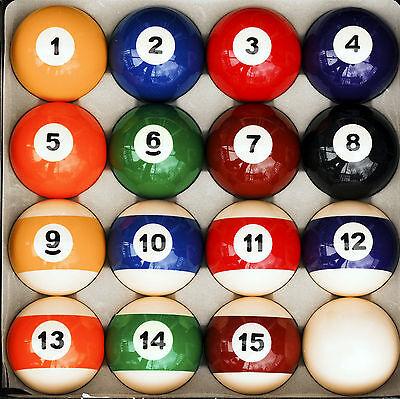 Traditional Style Pool Table Billiard Ball Set Regulation 2 1/4