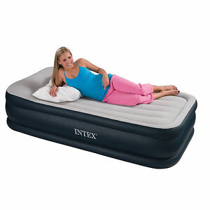 Intex Single Deluxe Pillow Rest Airbed with Built-in Electric Pump #67732