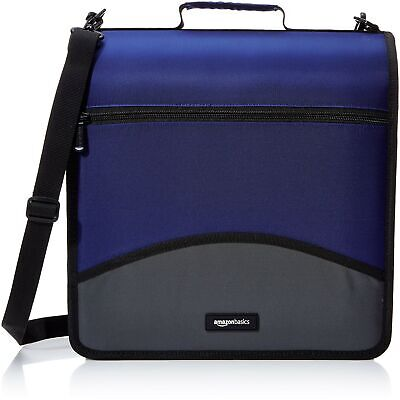 Amazonbasics 3-ring Binder With Zipper - D-ring 4 Inch Blue D Ring