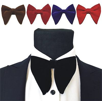 Mens Oversized Bow Tie Velvet Bowtie Cufflinks Hankie Sets Men's Big Bow Tie New