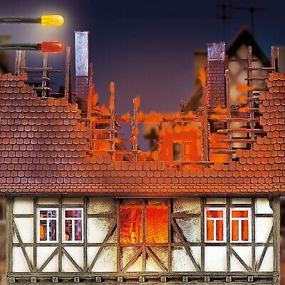Flackerlicht 3 LEDs 3mm brandflackern Feuer brennendes Haus Feuerschein H0 #1