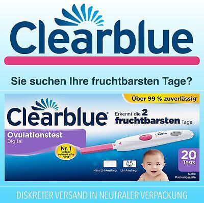 Clearblue 20er Ovulationstest mit Digital Anzeige der 2 fruchtbarsten Tage