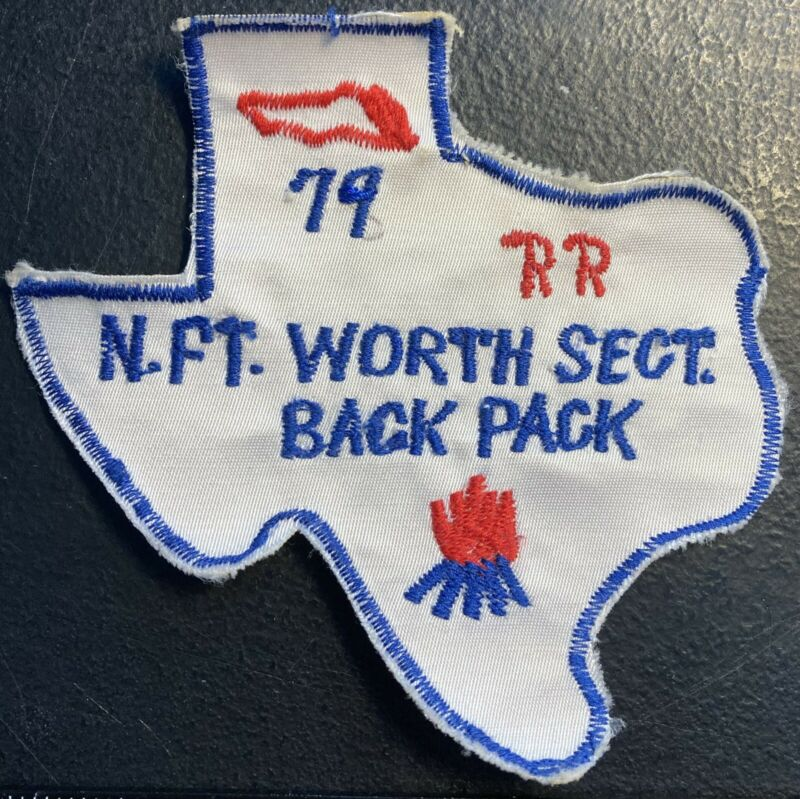 ROYAL RANGERS Patch 1979 Texas Shaped North Ft Worth Section Back Pack