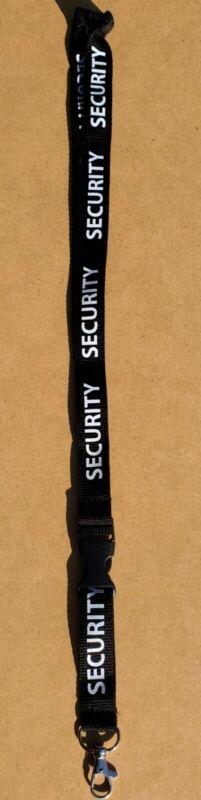 Security Lanyard ID/Badge (Black / White)