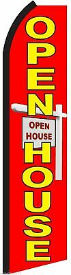 Open House Flutter Flag Tall Feather Swooper Advertising Sign Banner