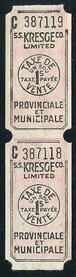 CANADA REVENUE QUEBEC 1¢ SALES TAX TICKET (Canada Sales Tax)