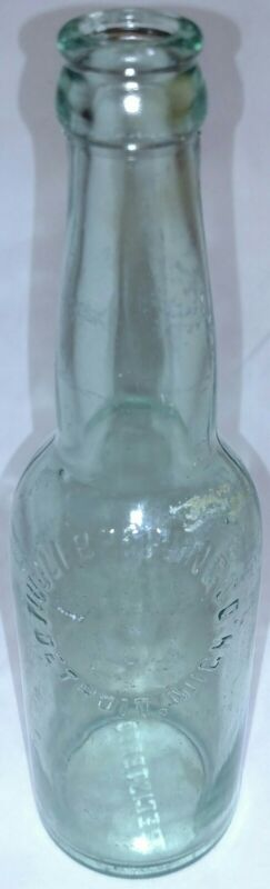 RARE Tivoli Beer Bottle, Detroit MI Pre Pro Era Aqua Embossed 1898-1919