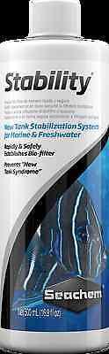 SEACHEM STABILITY 500 ML ( 16.9  fl. oz ) Bio-Filter Aquarium Fish Tank Cycle