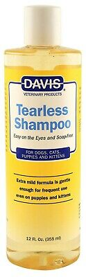 - Davis Tearless Shampoo for Dogs easy on the eyes and soap free 12oz