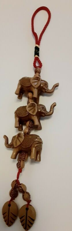 Feng Shui Chinese Oriental Good Luck Door/Car Charm Elephant Amulet Tassel