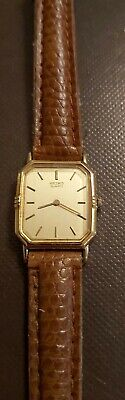 RARE VINTAGE SEIKO LADIES GOLD PLATED QUARTZ WATCH 2C20-5810. NEW BATTERY FITTED