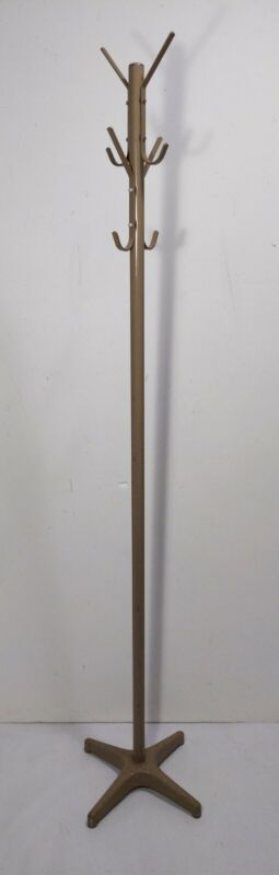 Vintage Mid Century Industrial Metal/Steel Coat & Hat Rack Floor Stand Hall Tree