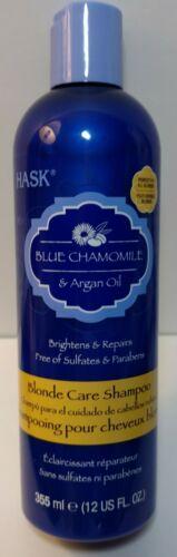 Hask Blue Chamomile & Argan Oil Blonde Care Shampoo, 12 fl o