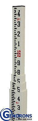 16 Fiberglass Grade Rod In 10th100thsurveyingtopconspectratrimblestick