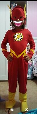 The Flash Halloween Costume Girl (Kids Justice League DC Comics Halloween The Flash Costume size M unisex girl)