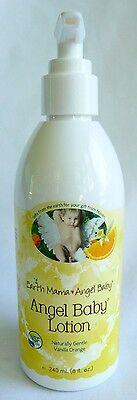 Earth Mama Angel Baby Lotion Vanilla Orange Scented 8 oz (240 mL)  NEW