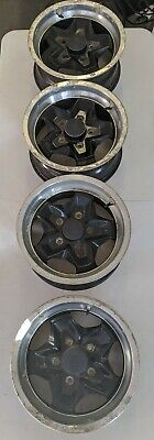 Porsche 911 944 Cookie Cutter Wheels Set Oem W/ Center Caps 7J X 15 H2 ET23