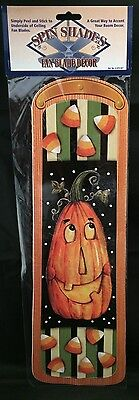 - Halloween Ceiling Fan Blade Decor Appliques Stickers Decals Pumpkin Candy Corn