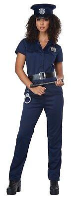 Police Women Cop Uniform Shirt Pants Adult Costume (Police Uniform Costume)