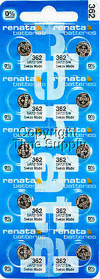 10 pc 362 Renata Watch Batteries SR721SW FREE SHIP