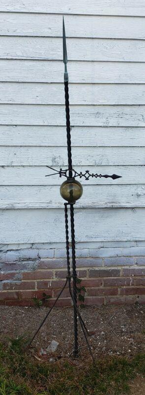 RARE Antique Victorian MUNSON Copper Lightning Rod Weathervane