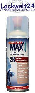 SprayMax 2K-Epoxy-Grundierung, Schwarz, Sperrgrundierung, 400ml, #680034
