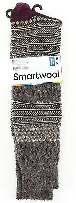 Smartwool Popcorn Cable Women's Oatmeal Heather Knee High Socks Sz M 7-9.5 (Popcorn Cable Socks)