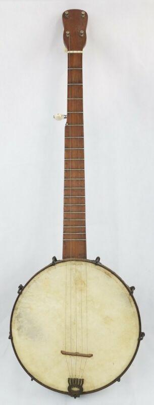 Antique Five String Minstrel Banjo Eagle brackets rare military? Band neat 1800s